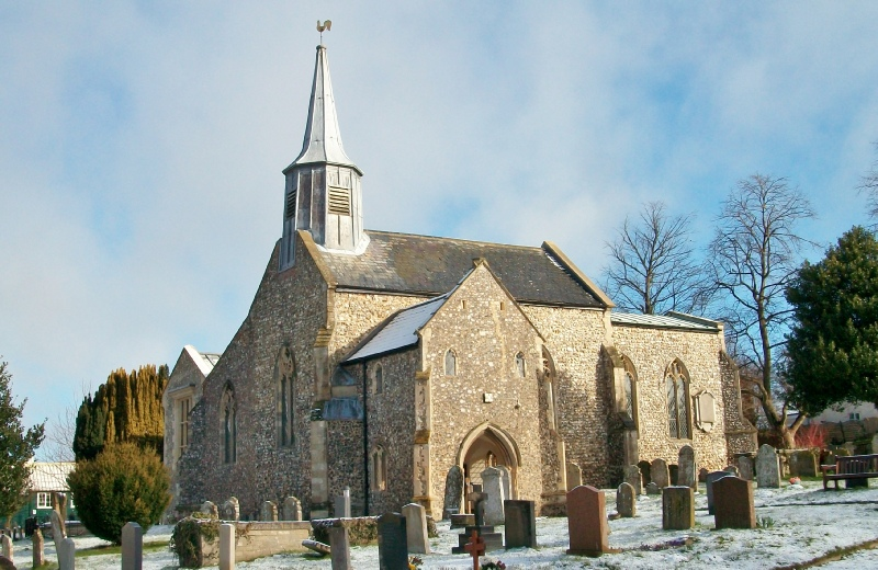 A church which now benefits from ground source heating