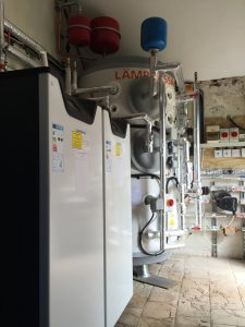 The ground source heat pump installation at Wood Farm Veterinary Practice