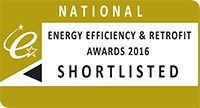 Energy Efficiency & Retrofit Awards 2016 – Finalist for Small scale project, Large scale project and Commercial Director Award