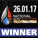 National ACR & Heat Pump Awards 2017 – Winner, Domestic Ground Source Project – Winner, Heat Pump Installer of the Year – Highly Commended