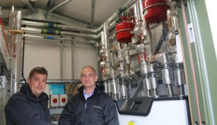 Region's first communal domestic ground source heat pump
