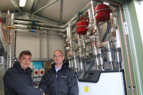Region's first communal domestic ground source heat pump