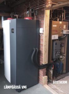 lampoassa heat pump alongside a 40 year old geotherm heat pump