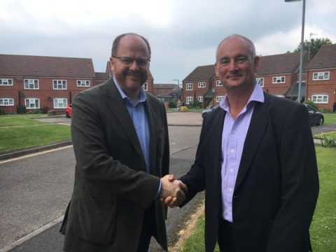 MP George Freeman sees the benefits of low carbon district heating scheme