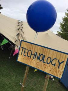 Technology tent at Big Tent Ideas Festival