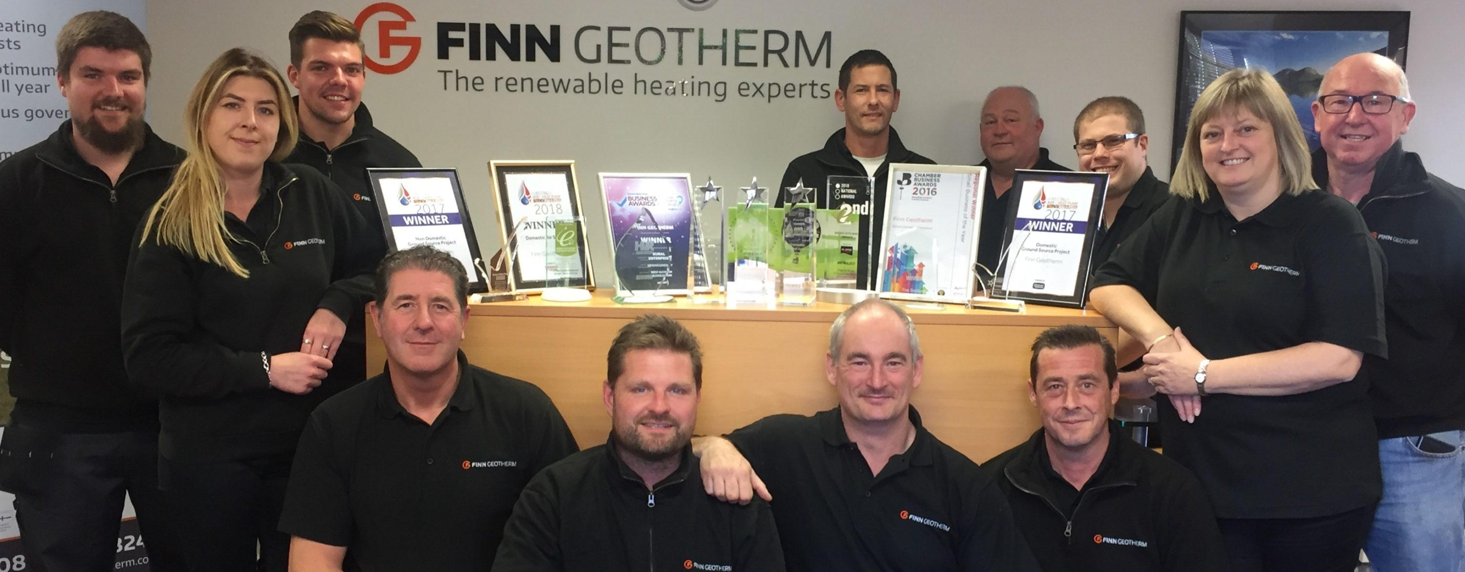 the expert heat pump installer team at Finn Geotherm