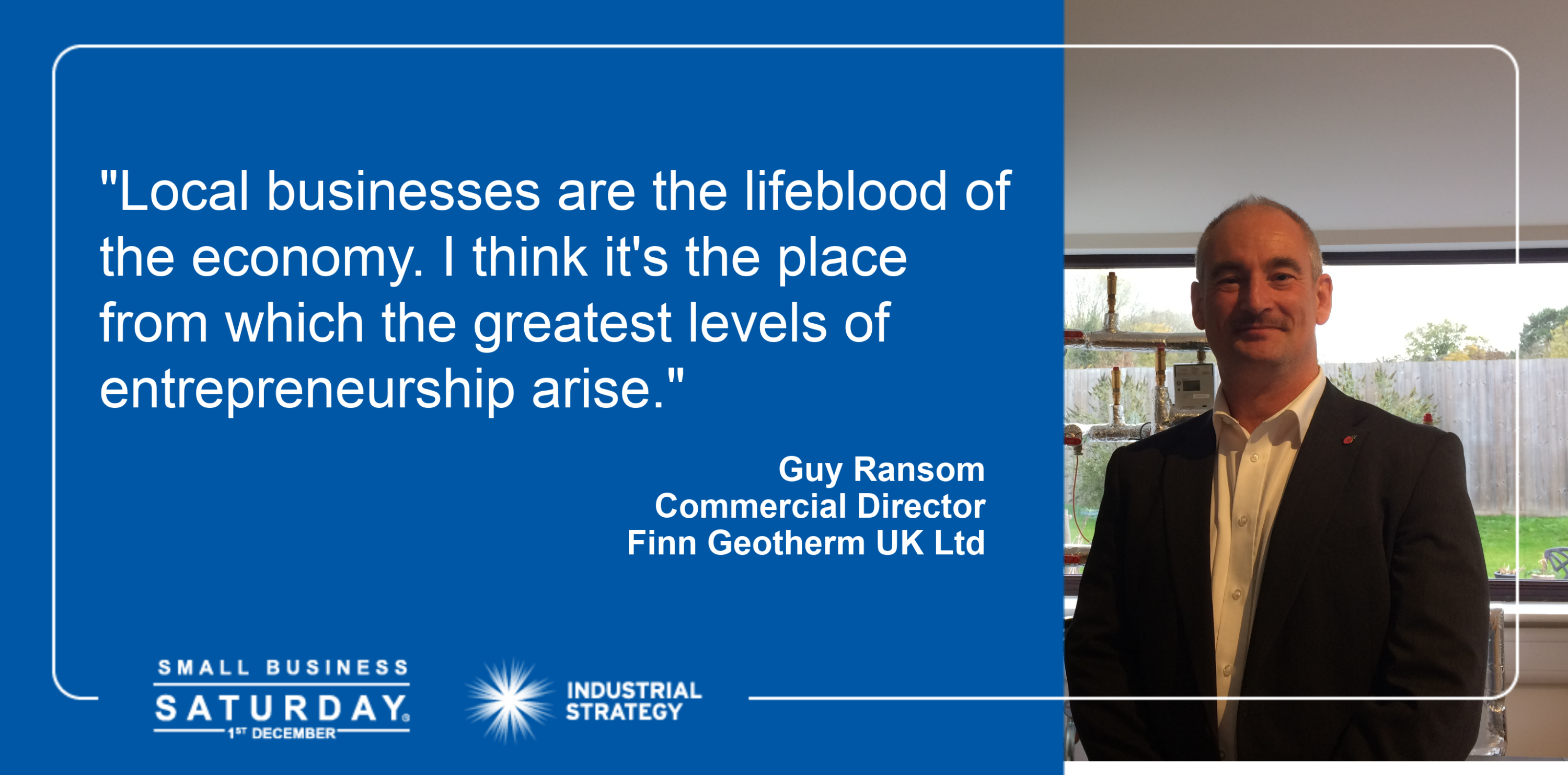 Guy Ransom is appearing in the HM Government campaign for Small Business Saturday