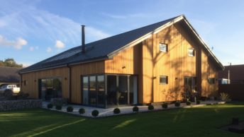 Countryside barn conversion always kept warm with ground source