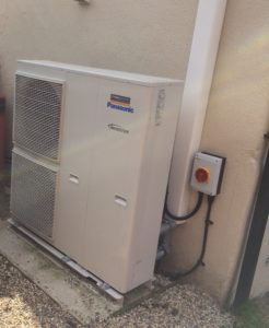 Panasonic heat pump installed to replace an oil boiler heating system