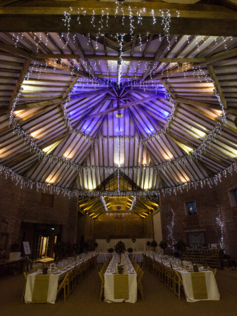 Warm celebrations at 17th Century wedding and events venue