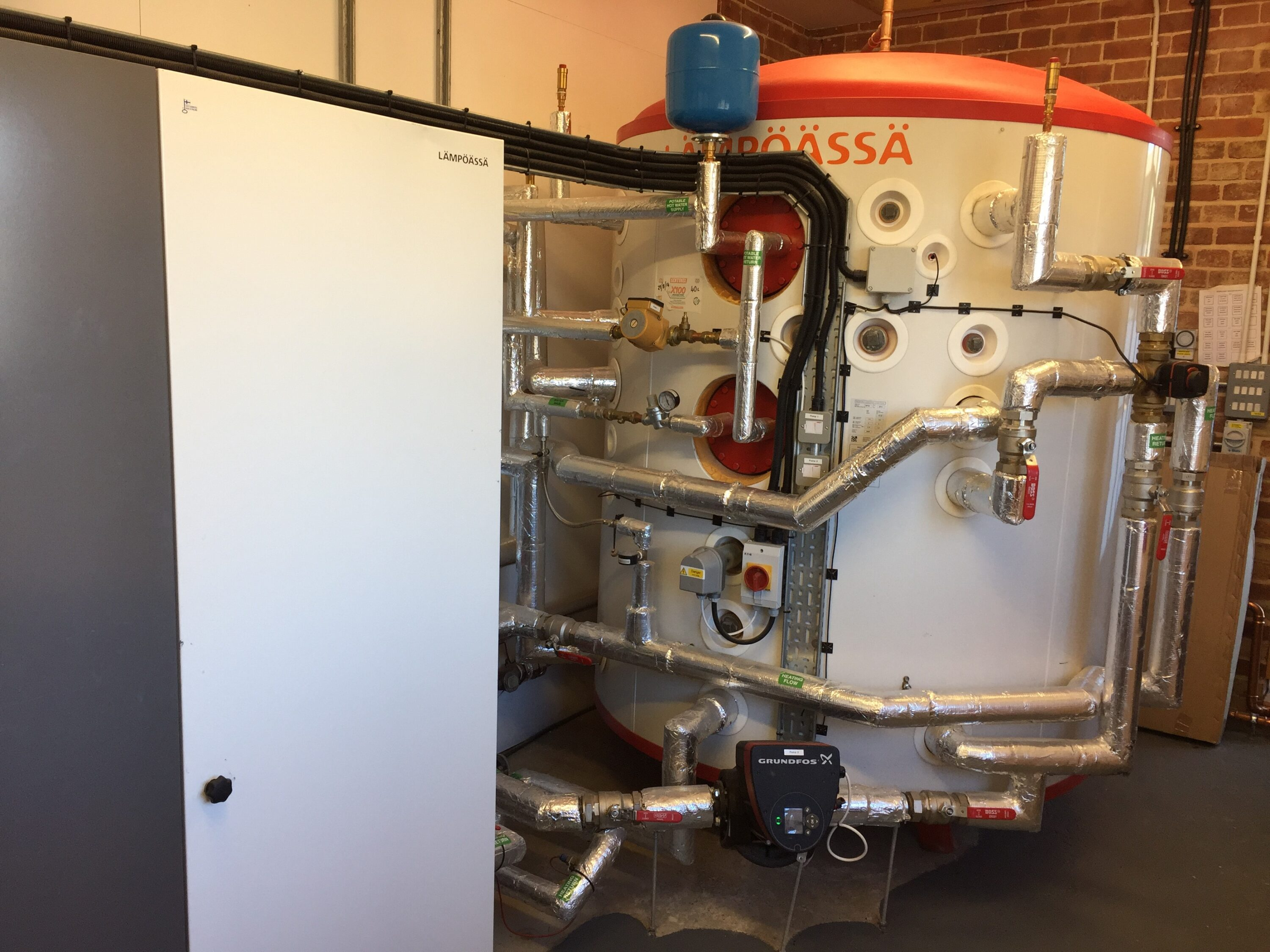 a ground source heat pump installed by Finn Geotherm